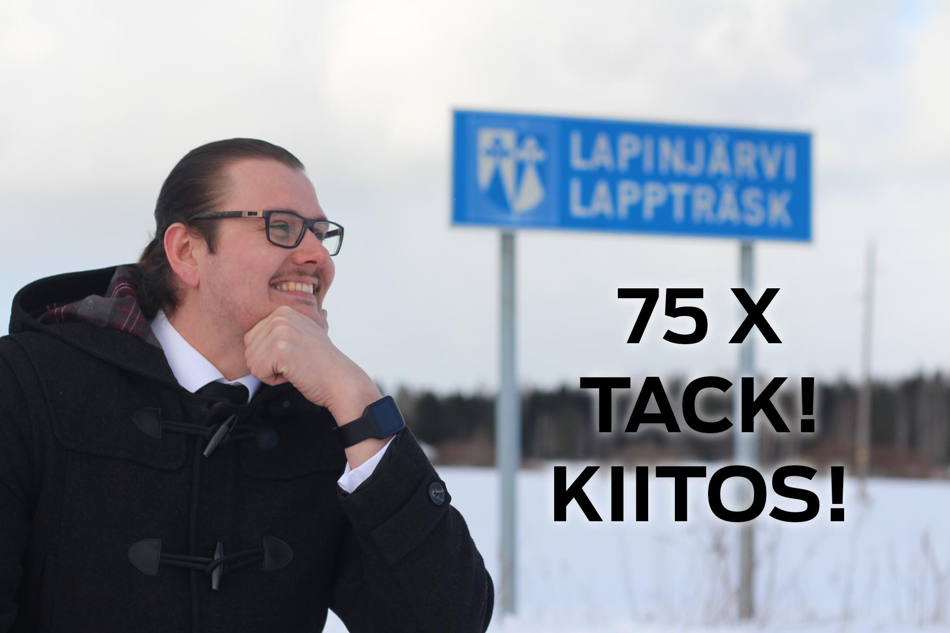 Invald med 75 röster och därmed SFP:s röstmagnet i Lappträsk.